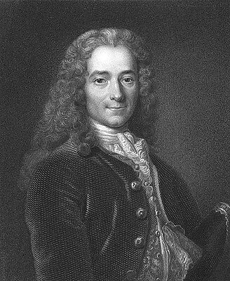 French Enlightenment Philosopher VOLTAIRE Freedoms Man, 1833 Art Print Engraving