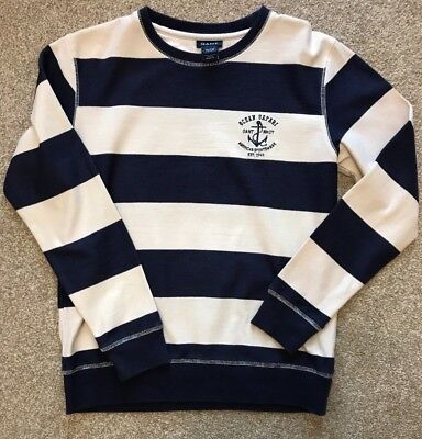 Gorgeous Boys Nautical Stripe Gant Sweatshirt Jumper Age 11 - 12 Years