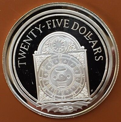 1988 British Virgin Islands Pirates Treasure Twenty-Five Dollars $25 .925 Silver