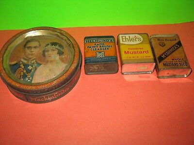 McCormick's Mustard Seed, Ehlers Powered Mustard, Mechling's Paint Brush Tins