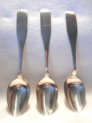 Sterling Silver Foreign Hallmarked Unknown Maker Set of 3 Coffee Spoons, 19th C.