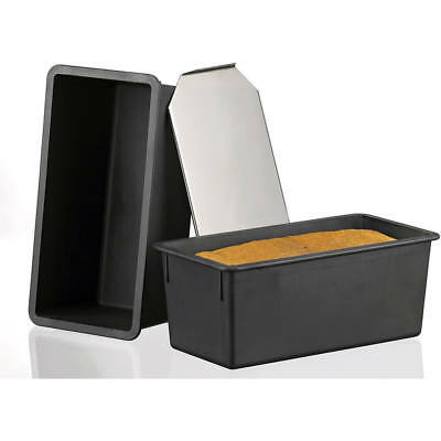 "Matfer Bourgeat Exoglass Bread Loaf Pan With Lid, 9.75"" Black 345834"