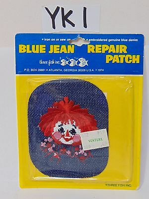 1970's Embroidered Blue Jean Patch Vintage Raggedy Ann Rare New Nos Face Hippie