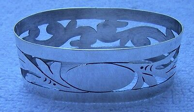 Good TAXCO MEXICO Sterling NAPKIN RING-Damaso Gallegos-Cutout Decoration