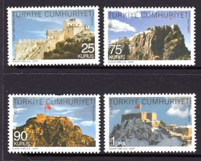 Turkey 2009 Castles & Forts Set 4 MNH