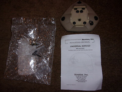 Norotos Universal 3-Hole Shroud P/N 1817010 Base Plate * (Fits ACH / Ops-Core)