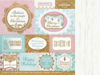 "*A&B*KAISERCRAFT 12""x12"" Scrapbooking Paper Christmas Wishes P2149 Season's Gree"