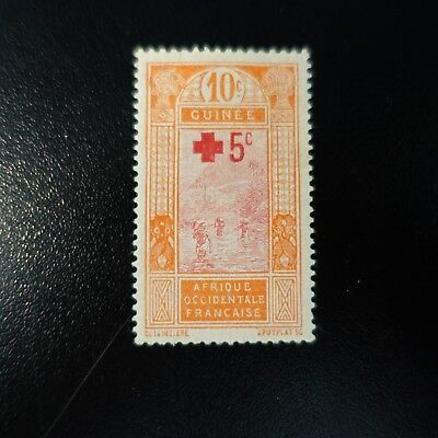 France Colony Guinea French N°80 (Thinned) New With Original Gum
