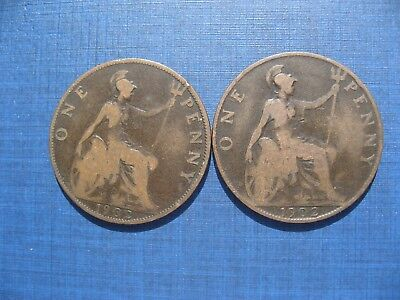 Edward VII Pennies 1902 Low Tide & High Tide.