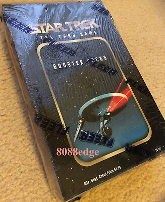 1996 Star Trek Trading Card Game Booster Factory Sealed Box: Captain Kirk/spock