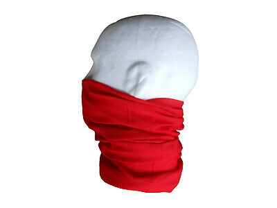 Neck/Face Warmer Tube Bandana Microfibre Red