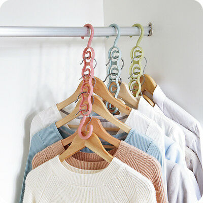 Folding Clothes Hanger Anti-skid Foldable Multifunction Hangers Hook for Balco