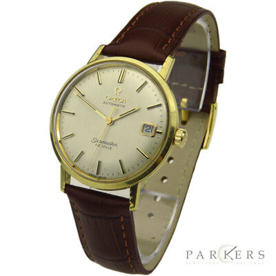 Omega Seamaster De Ville Vintage 18K Gold Automatic Wristwatch Dated Circa 1966