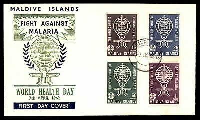 Fight Against Malaria  Combination 1962 Cachet On Sealed Fdc