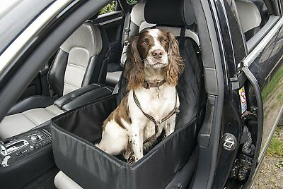 Dog Car Booster Seat Cover Travel Carrier Safety Basket Folding Front 2 in 1