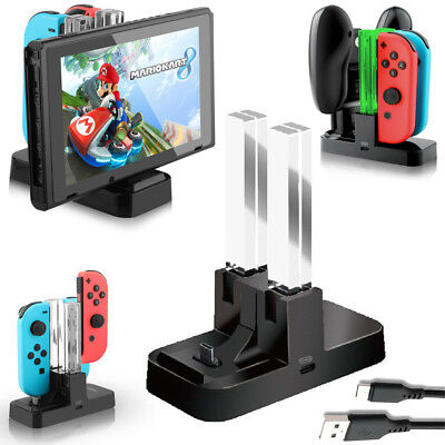 4 in 1 Charging Dock for Nintendo Switch Console/ Joy-Con & Pro Controller Black