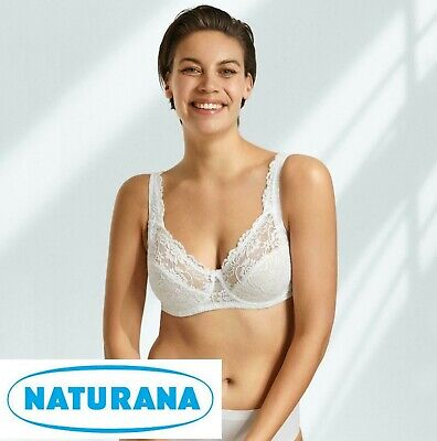 Naturana Underwired Full Cup Lace Bra White 88064 Womens