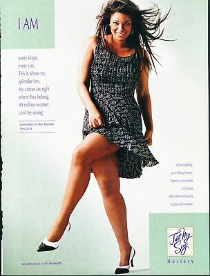 Print Ad~2002~Just My Size~Pantyhose~Curvy~Hosiery~G200