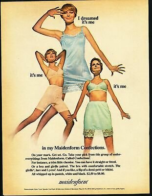 Print Ad~1960s~Maidenform~Confections~I Dreamed It's Me~G200