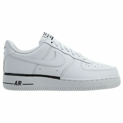 NIKE AIR FORCE 1 '07 Mens AA4083 101 White Black Leather Low Shoes