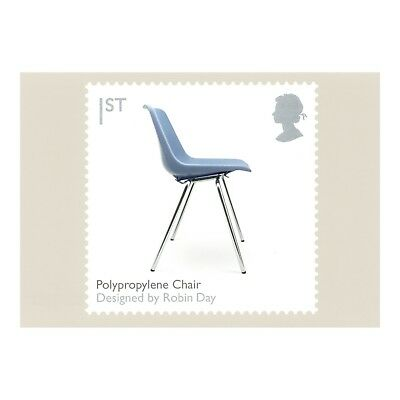 Polypropylene Chair Designer Robin Day Classic 2009 Royal Mail Phq 318 Postcard