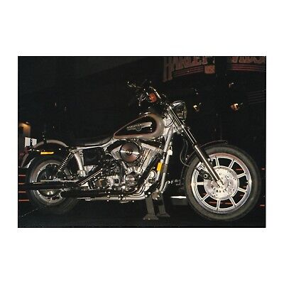 Harley-Davidson Dyna Glide Custom Motorcycle Photo Don Morley Motorbike Postcard
