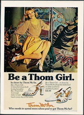 Print Ad~1970s~Thom McAn~Thom Girl~Shoes~Carousel~G300