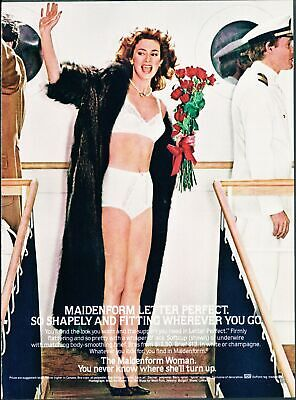 Print Ad~1980s~Maidenform~Letter Perfect~Cruise~Ship~Bon Voyage~G300