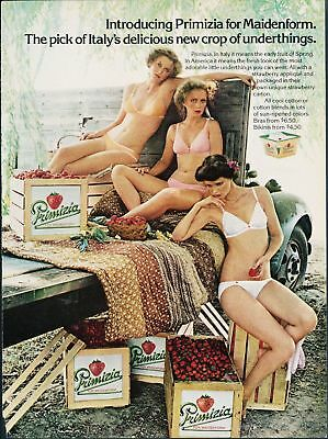 Print Ad~1979~Maidenform~Primizia~Crop~Strawberries~Truck~Bra & Panties~G300