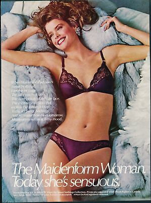 Print Ad~1985~Maidenform~Sweet Nothings~Fun~Lacy Bra & Panties~G300