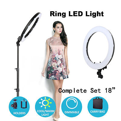 Zomei 18-inch LED Ring Light While and Orange Color Tripod Stand for Video Shoot