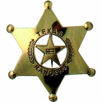Sheriffstern Texas Rangers messing-gold