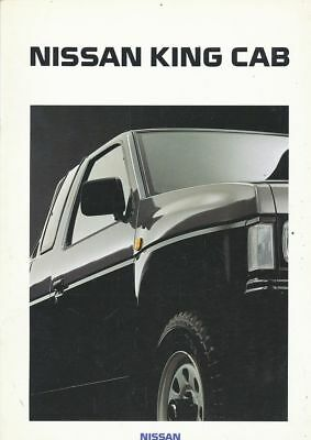 Catalogue Voiture Pub. Auto Ad.car Nissan King Cab 1991  En Francais