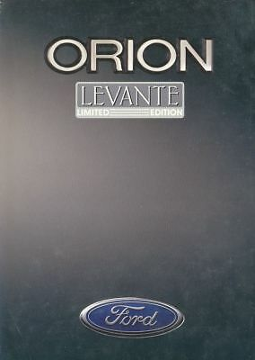 Catalogue Voiture Pub. Auto Ad.car Ford Orion Levante Limited Edition 1993 P.b.