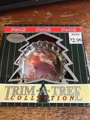 Coca-Cola Trim A Tree Collection Santa drinking a coke with box 35-61G