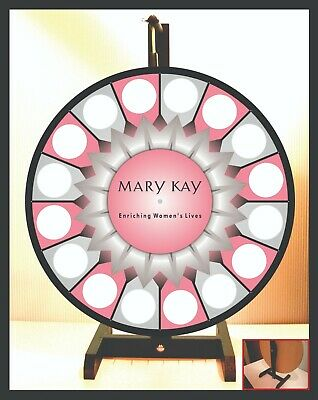 "Prize Wheel 18"" Spinning Tabletop Portable Mary Kay Starburst Center"