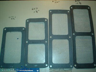6v71 6v92 Blower supercharger screen Gasket stainless mesh screen detroit diesel