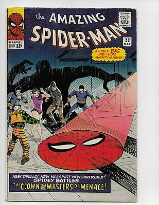 Amazing Spider-Man 22 - Vg/f 5.0 - 1St Appearance Of The Princess Python (1965)