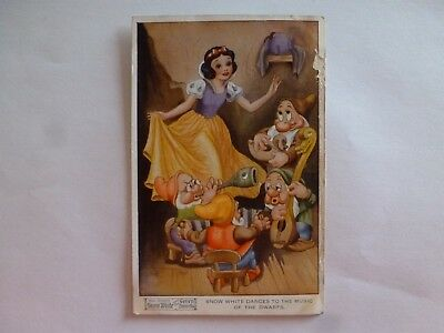 Vintage Postcard Walt Disney's Snow White & The Seven Dwarfs 1939 (N)