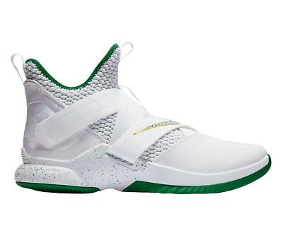 purchase cheap e4efe 42776 NIKE LEBRON SOLDIER 12 XII SVSM Home Mens AO2609-100 White Green Shoes Size  12