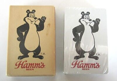 Hamm's Beer Playing cards Hamm's Bear Sealed never used 70's-80's Theodore Bear