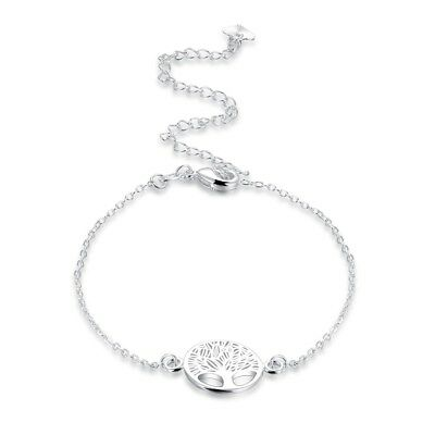 925Sterling Silver Fashion Jewelry The Tree of Life Women Bracelet Anklet AY208