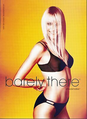 Print Ad~2001~Barely There~Micro-Stretch Cotton~Orange Background~G400