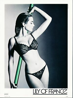 Print Ad~1987~Lily of France~Black Lace Bra & Panties~G300