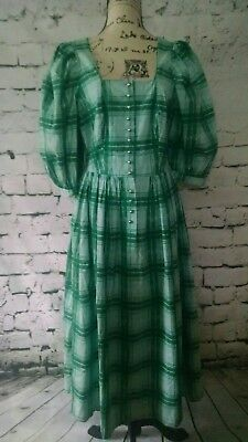Tostmann Trachten Oktoberfest German Dimdl Dress Green Women's Size 44