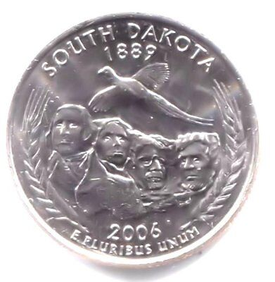 South Dakota State Quarter 2006 D Coin Denver Mint