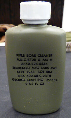 Government Issue US Military Vietnam Era U.S. Army Rifle Bore Cleaner Sept 1968