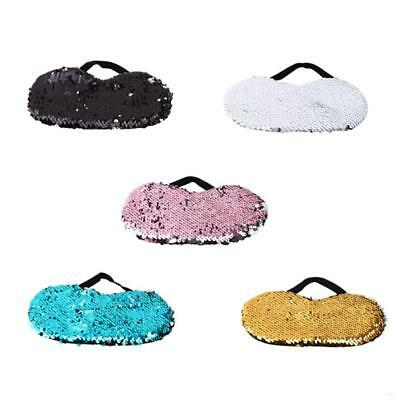 Unisex Mermaid Sequins Soft Eye Mask Travel Sleep Rest Eye Shade Cover Blindfold