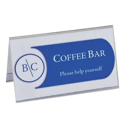 "C-Line® Tent Card Holders, 2"" x 3 1/2"", Rigid Heavyweight Clear P 038944875378"