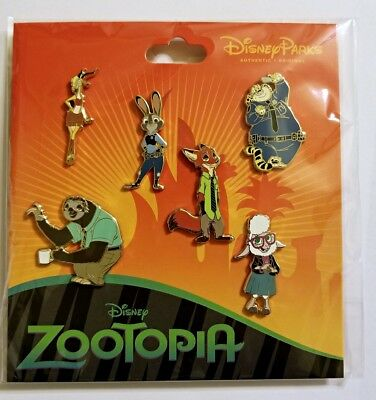 Disney Pin Booster Pack ZOOTOPIA set of 6 pins - Sealed NEW